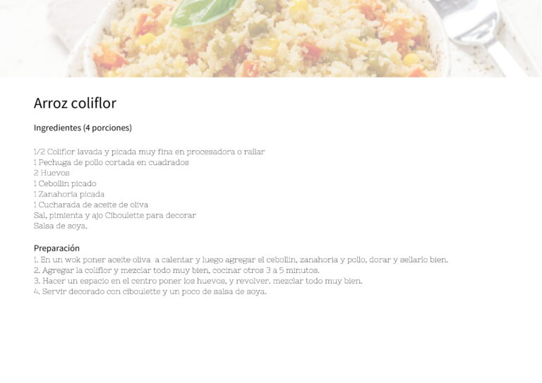 Arroz coliflor
