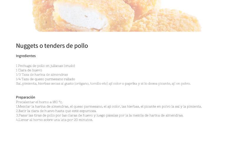 Nuggets o tenders de pollo
