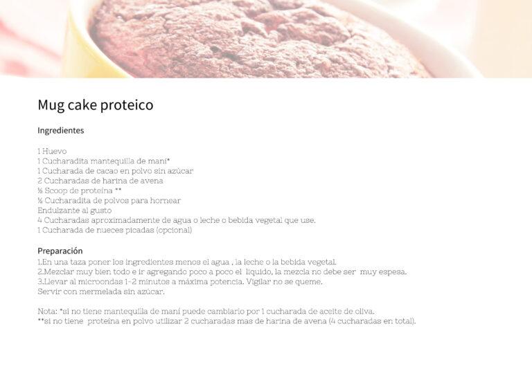 Mug cake proteico