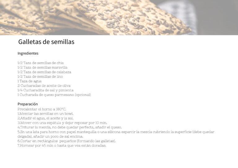 Galletas de semillas
