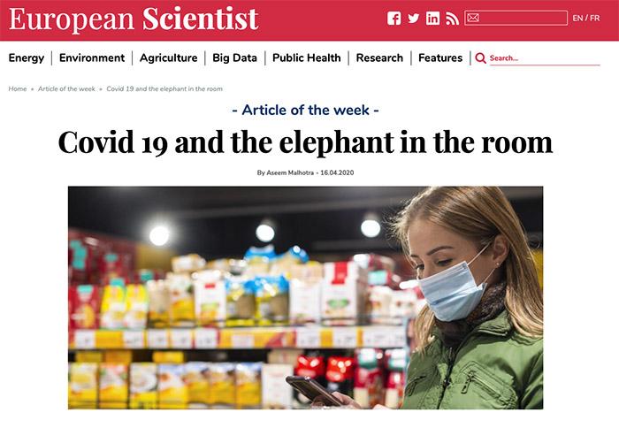 Covid-19 y el elefante en la habitacion