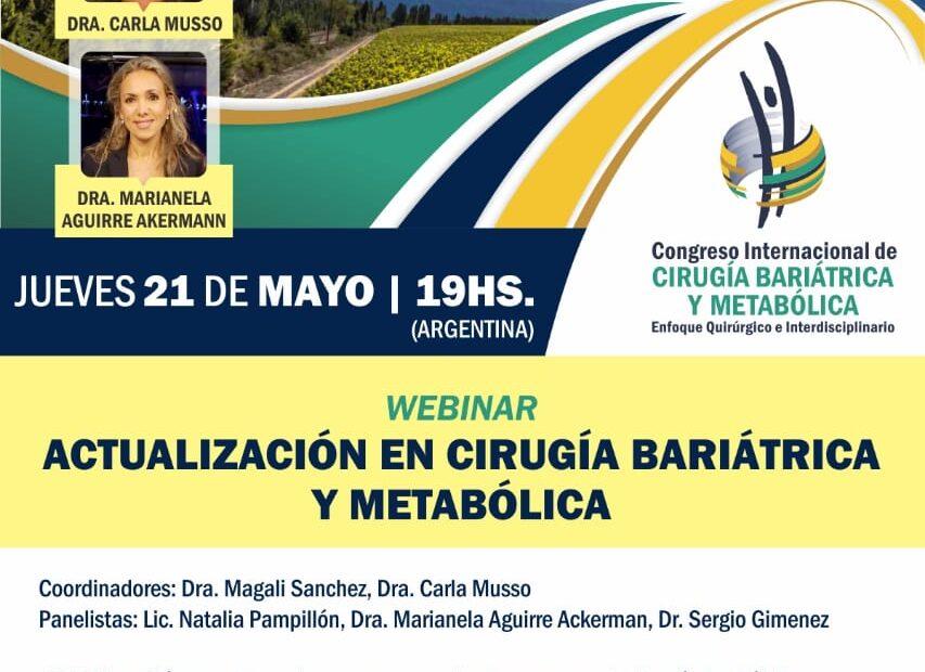 Webinar Actualización en Cirugía Bariátrica y Metabólica
